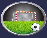 Objetivo do futebol com rede Imagens de Stock Royalty Free
