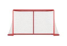 Objetivo do futebol com a rede isolada no fundo branco renderin 3D Imagens de Stock