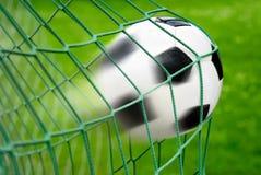 Objetivo do futebol ou do futebol Fotos de Stock Royalty Free