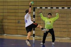 Objetivo do handball imagens de stock
