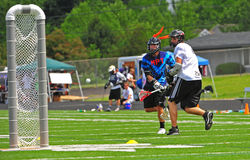 Objetivo do Lacrosse de Chumash Fotos de Stock Royalty Free