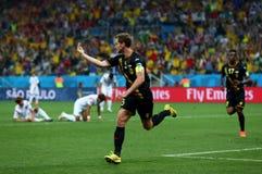 Objetivo Jan Vertonghen Coupe du monde 2014 Imagem de Stock