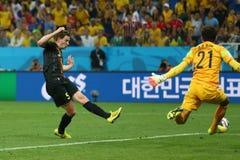 Objetivo Jan Vertonghen Coupe du monde 2014 Foto de Stock