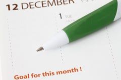Objetivo para este mês Imagens de Stock Royalty Free