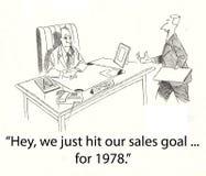Objetivo velho das vendas Fotografia de Stock Royalty Free