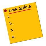 2015 objetivos Imagens de Stock