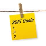 2015 objetivos Foto de Stock Royalty Free
