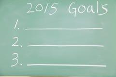 2015 objetivos Imagem de Stock