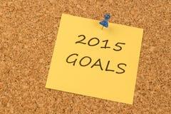 2015 objetivos Fotos de Stock Royalty Free