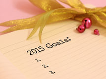 2015 objetivos Fotografia de Stock Royalty Free