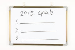 2015 objetivos Fotografia de Stock