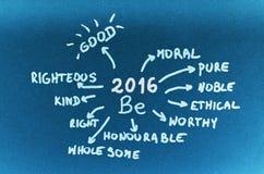 Objetivos 2016 Foto de Stock