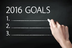 2016 objetivos Imagem de Stock Royalty Free