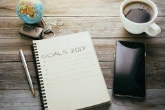 Objetivos 2017 Imagens de Stock