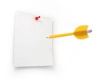 Objetivos criativos do mercado do alvo e do negócio Foto de Stock