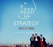 Objetivos das táticas de Strategy Analytics que planeiam o conceito fotos de stock