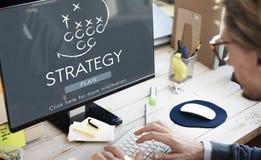 Objetivos das táticas de Strategy Analytics que planeiam o conceito imagens de stock