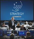 Objetivos das táticas de Strategy Analytics que planeiam o conceito foto de stock