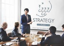 Objetivos das táticas de Strategy Analytics que planeiam o conceito imagem de stock