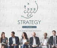 Objetivos das táticas de Strategy Analytics que planeiam o conceito foto de stock royalty free