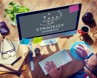 Objetivos das táticas de Strategy Analytics que planeiam o conceito fotos de stock royalty free