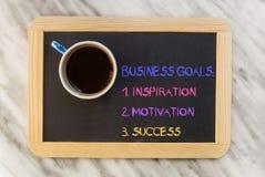 Objetivos de negócios Imagens de Stock