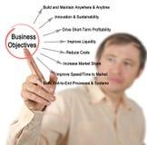Objetivos de negócios Fotografia de Stock