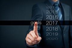 Objetivos de negócios para 2017 Imagens de Stock Royalty Free