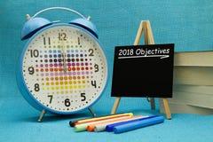 2018 objetivos del Año Nuevo Imagenes de archivo