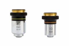 Objetivos del microscopio Imagen de archivo