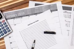 2018 objetivos do ano novo Imagem de Stock