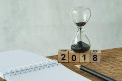 objetivos do ano novo 2018, alvo ou conceito da lista de verificação como o número 2018 Imagem de Stock