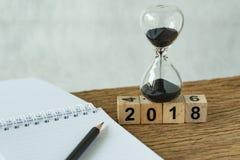 objetivos do ano novo 2018, alvo ou conceito da lista de verificação como o número 2018 Imagem de Stock Royalty Free