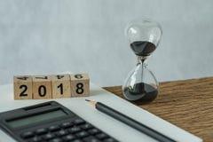 objetivos do ano novo 2018, alvo ou conceito da lista de verificação como o número 2018 Imagens de Stock Royalty Free