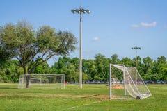 Objetivos do futebol em Texas Park imagem de stock royalty free