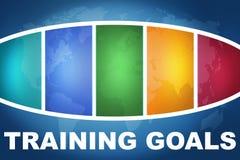 Objetivos do treinamento fotografia de stock