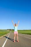 Objetivos e sucesso running Fotos de Stock