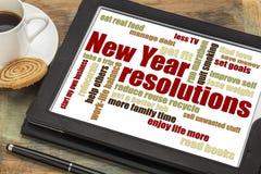 Objetivos ou definições do ano novo fotografia de stock royalty free