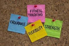 Objetivos ou elementos do treinamento da aptidão Imagem de Stock Royalty Free