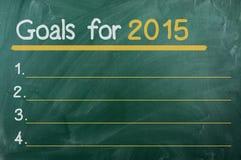 Objetivos para 2015 Imagem de Stock