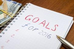 OBJETIVOS para a mensagem 2016 Fotos de Stock