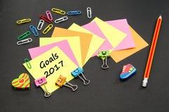 Objetivos pelo ano novo Foto de Stock