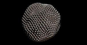 Objeto abstracto de la esfera de Metaball del oro de la introducción ilustración del vector