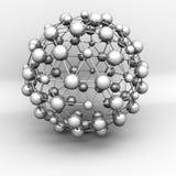 Objeto abstracto de la estructura molecular 3d Fotos de archivo libres de regalías