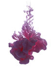 Objeto abstracto del chapoteo de la pintura Nube del color de la tinta en agua foto de archivo