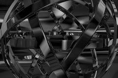 Objeto abstracto del metal Imágenes de archivo libres de regalías