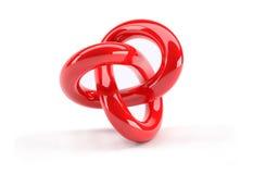 Objeto abstracto rojo del plástico 3d Fotografía de archivo