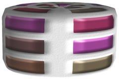 Objeto abstrato com as grandes listras coloridas Imagens de Stock Royalty Free