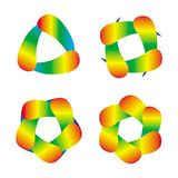 Objeto abstrato do arco-íris Elementos do projeto e do fundo artístico Foto de Stock