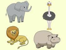 Objeto africano de los animales de la sabana libre illustration